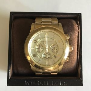 Oversized Runway Gold-Tone Stainless Steel Watch